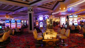 Casino with slot-machine